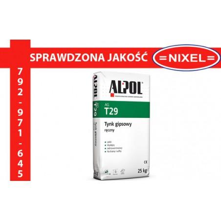 Tynk gipsowy ręczny ALPOL AG T29 25kg