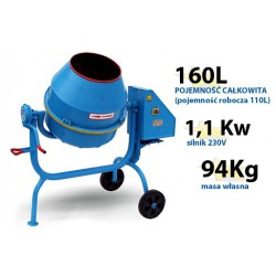 Betoniarka AGRO-WIKT BWJ160l/230V - Profesjonalna