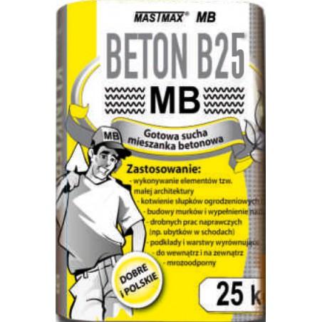 BETON B25 MASTMAX MB 25kg transport HDS