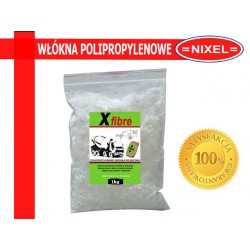WŁÓKNA POLIPROPYLENOWE DO BETONU - dł.12mm - 1kg