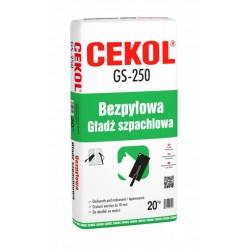 Bezpyłowa gładź szpachlowa CEKOL GS-250