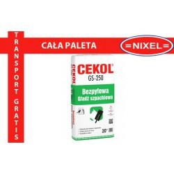 Paleta - CEKOL GS-250 Bezpyłowa gładź szpachlowa