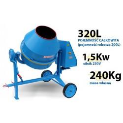 Betoniarka AGRO-WIKT BWA150l/230V - Profesjonalna