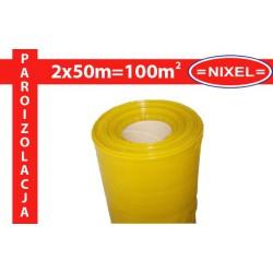 Folia paroizolacyjna pod panele podłogowe żółta PE TYP 200 GRUBA!