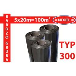 Folia izolacyjna budowlana czarna TYP300 5x20m