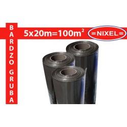 Folia izolacyjna budowlana czarna TYP200 5x20m