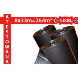 Folia IZOLACYJNO-BUDOWLANA czarna ATEST 0,2mm 8x33