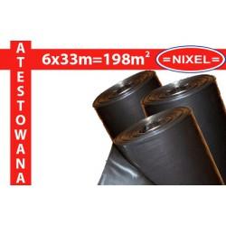 Folia IZOLACYJNO-BUDOWLANA czarna ATEST 0,2mm 6x33