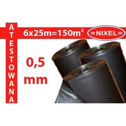 Folia IZOLACYJNO-BUDOWLANA czarna ATEST 0,5mm 6x25