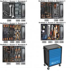WÓZEK NARZĘDZIOWY C1302 RICHMANN CORONA 7 szuflad 135 Elementów