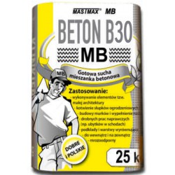 BETON B30 MASTMAX MB 25kg transport HDS