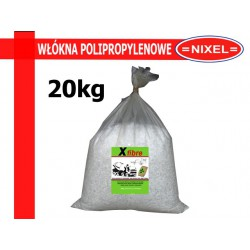 WŁÓKNA POLIPROPYLENOWE DO BETONU - dł.18mm - 1kg